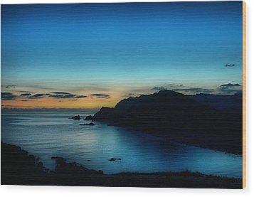 Dawn Blue In Mediterranean Island Of Minorca By Pedro Cardona Wood Print by Pedro Cardona