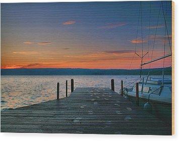 Dawn Breaking Wood Print by Steven Ainsworth