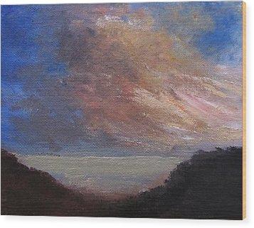 Dawn Breaks Wood Print by Trilby Cole