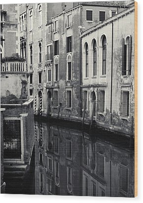 Wood Print featuring the photograph Dawn Canal, Venice, Italy by Richard Goodrich