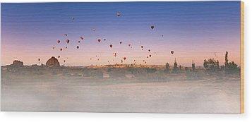 Dawn, Cappadocia Wood Print by Marji Lang