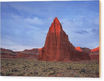 Wood Print featuring the photograph Dawn Glow In Cathedral Valley. by Johnny Adolphson
