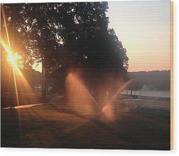 Dawn Golf Course Wood Print