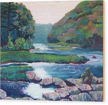 Dawn In West Virginia Wood Print