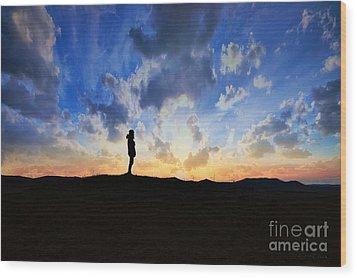 Dawn Of A New Day Sunrise 140a Wood Print by Ricardos Creations