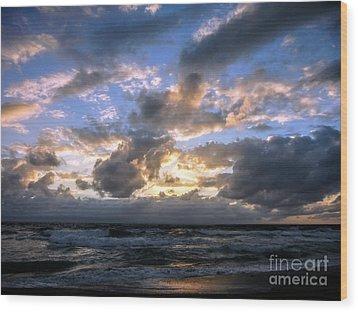 Dawn Of A New Day Treasure Coast Florida Seascape Sunrise 138 Wood Print