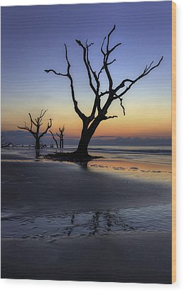 Dawn On Bull Island Wood Print