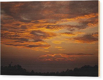 Wood Print featuring the photograph Dawn On Gaither Mountain At Ponca Wilderness by Michael Dougherty