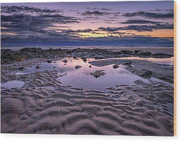 Wood Print featuring the photograph Dawn On Wells Beach by Rick Berk