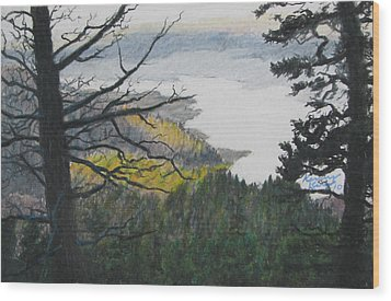 Dawn Over Eagle Nest Lake Wood Print by Kenny King