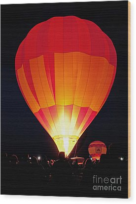 Dawn Patrol Balloon Fiesta Wood Print by Jim Chamberlain