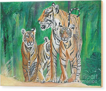 Dawn Patrol- Painting  Wood Print