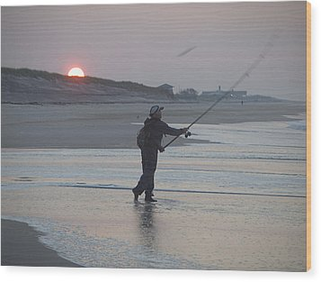 Wood Print featuring the photograph Dawn Patrol by Newwwman
