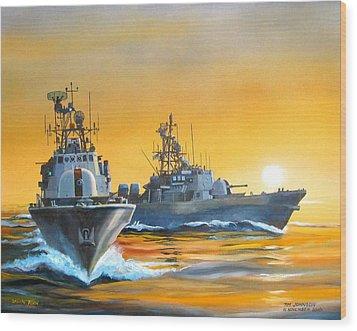 Dawn Run Wood Print by Tim Johnson