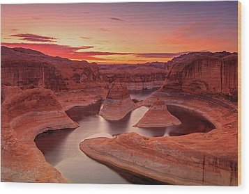 Dawn Sky Above Reflection Canyon. Wood Print by Johnny Adolphson