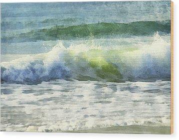 Dawn Wave Wood Print by Francesa Miller