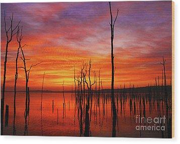 Dawns Approach Wood Print