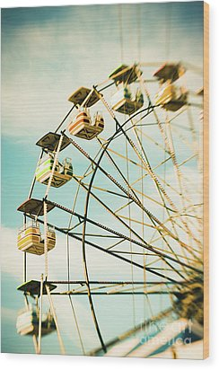 Day At The Beach No.3 Wood Print by Lisa McStamp