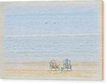 Wood Print featuring the digital art Day At The Beach Sun And Sand by Randy Steele