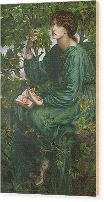 Day Dream Wood Print by Dante Charles Gabriel Rossetti