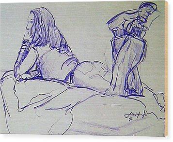 Day Dreaming Wood Print by Lee Nixon