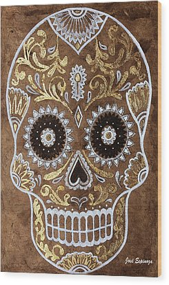 Wood Print featuring the painting Day Of Death by J- J- Espinoza