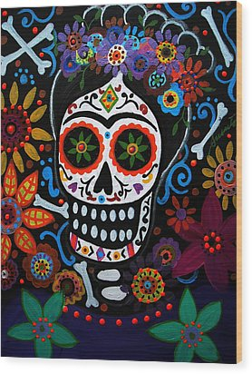 Day Of The Dead Frida Kahlo Painting Wood Print