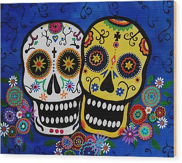 Day Of The Dead Sugar Wood Print