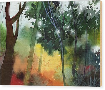 Daybreak Wood Print by Anil Nene