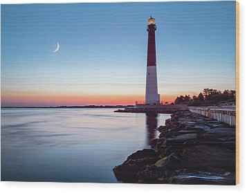 Wood Print featuring the photograph Daybreak At Barnegat by Eduard Moldoveanu