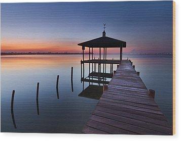 Daybreak Wood Print by Debra and Dave Vanderlaan