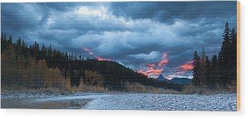 Daybreak Wood Print by Fran Riley