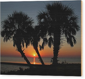 Wood Print featuring the photograph Daybreak by Judy Vincent