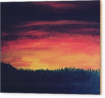 Daybreak Number Four Wood Print by Scott Haley