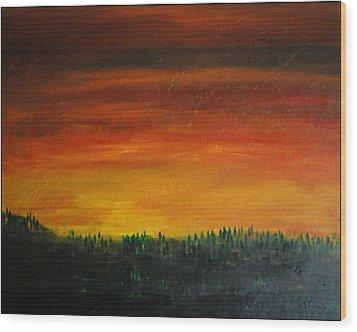 Daybreak Number Three Wood Print by Scott Haley