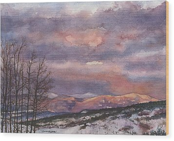 Wood Print featuring the painting Daylight's Last Blush by Anne Gifford
