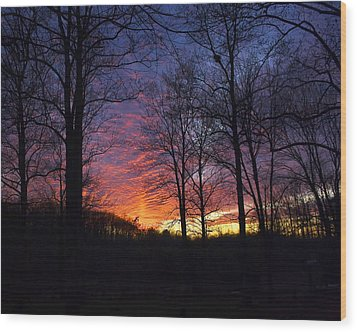 Day's End Wood Print by Alan Raasch