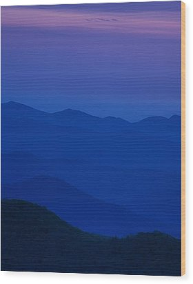 Day's End At The Blue Ridge Wood Print by Andrew Soundarajan