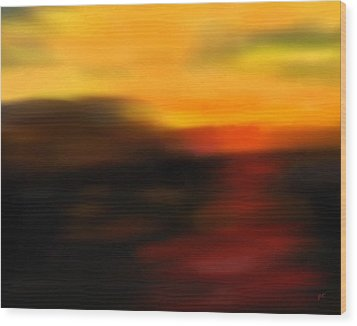 Day's End Wood Print by Gerlinde Keating - Galleria GK Keating Associates Inc
