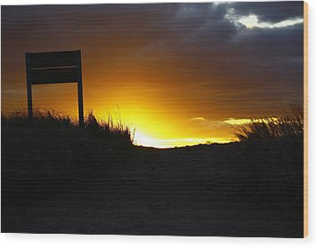 Days End Wood Print by Greg DeBeck