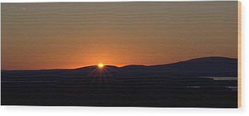 Wood Print featuring the photograph Days First Light I Hdr by Greg DeBeck