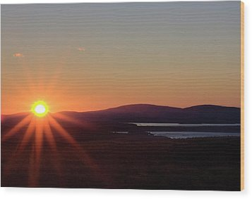 Wood Print featuring the photograph Days First Light IIi Hdr by Greg DeBeck