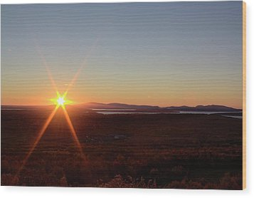 Wood Print featuring the photograph Days First Light Iv Hdr by Greg DeBeck