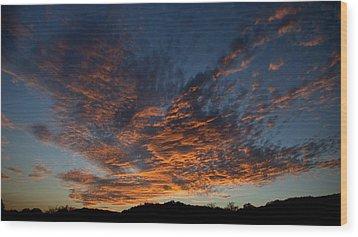 Day's Glorious Ending Wood Print by Karen Musick