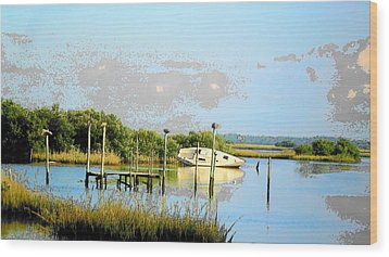 Days Past Wood Print by Sheri McLeroy