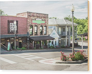 Wood Print featuring the photograph Daytime In Old Town Helena by Parker Cunningham