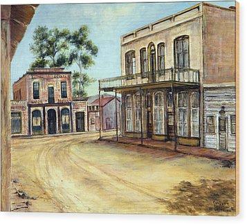 Dayton Nevada Wood Print by Evelyne Boynton Grierson