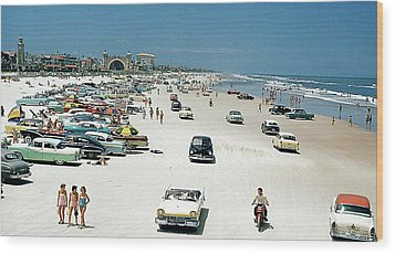 Daytona Beach Florida - 1957 Wood Print