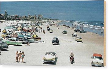 Daytona Beach Florida - 1957 Wood Print by Merton Allen