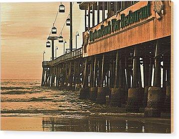 Daytona Beach Pier Wood Print by Carolyn Marshall